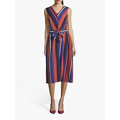 Betty Barclay Striped Midi Dress, Blue/Red