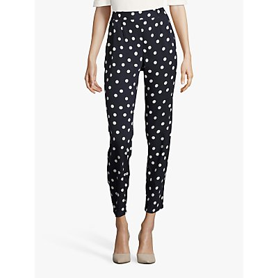 Betty Barclay Polka Dot Trousers, Dark Blue/Cream