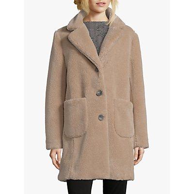 Betty Barclay Faux Sheepskin Coat, Almondine