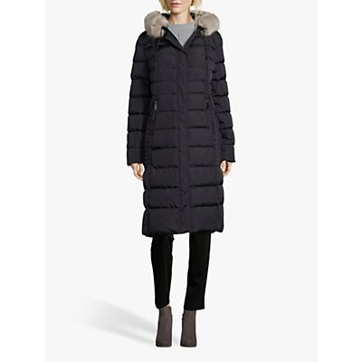 Betty Barclay Quilted Hooded Coat, Dark Blue