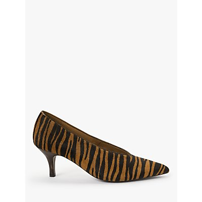 AND/OR Avolene Kitten Heel Court Shoes, Tiger Print