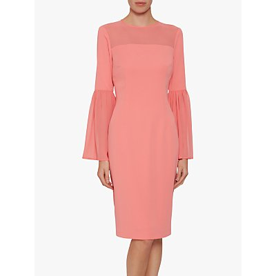 Gina Bacconi Crisiant Moss Crepe Dress