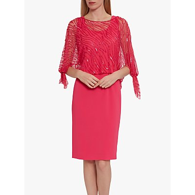 Gina Bacconi Jazz Sequin Overtop Tailored Dress