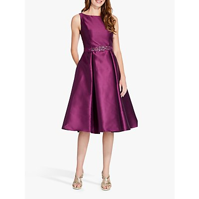 Adrianna Papell Mikado Party Dress, Amethyst