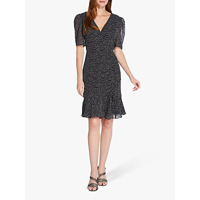 Adrianna Papell Darling Dot Dress, Black