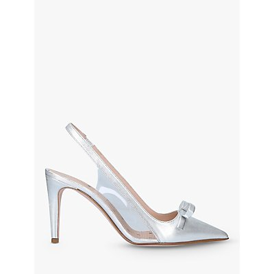 RED Valentino Plexi85 Slingback Court Shoes, Silver
