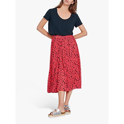 hush Marina Animal Print Skirt, Leopard Bittersweet