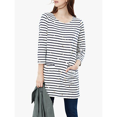 Joules Quinn Star and Stripe Tunic Top, White/Multi