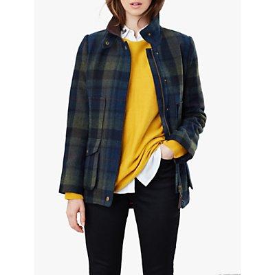 Joules Fieldcoat Tweed Jacket, Blue/Green