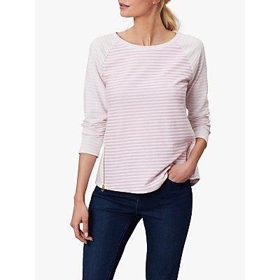 Joules Adaline Zip Detail Jersey Top, Pink