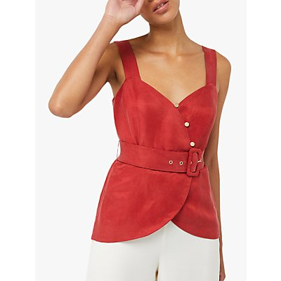Monsoon Cherry Button Top, Rust