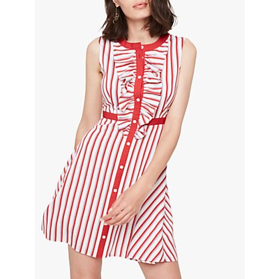 Damsel in a Dress Pascal Stripe Dress, Red/White