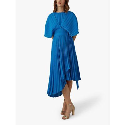 Karen Millen Pleat Dress, Blue