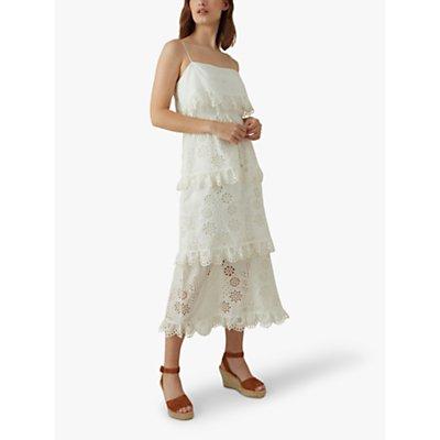 Karen Millen Broderie Dress, White
