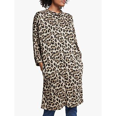 Masai Copenhagen Glussi Leopard Print Tunic Top, Ginger