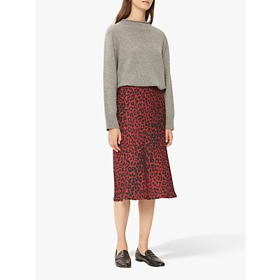 Gerard Darel Tressy Flared Midi Skirt, Red