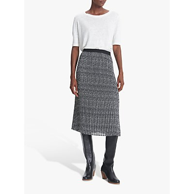 Gerard Darel Tracey Midi Skirt, Black/White