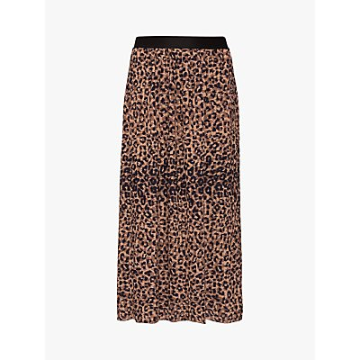 Gerard Darel Tilda Leopard Print Skirt, Brown