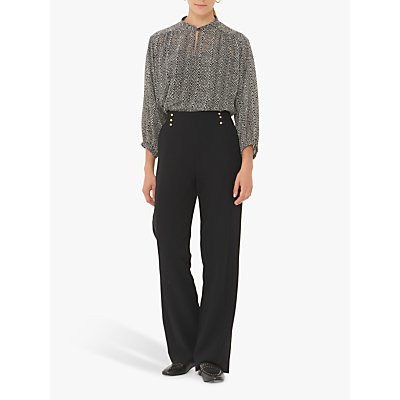 Gerard Darel Lio Wide Leg Trousers, Black