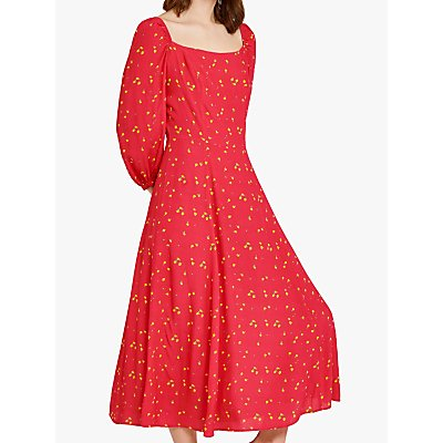 Ghost Joy Lemon Print Dress, Multi