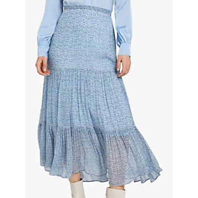 Ghost Felicia Tiered Skirt, Stamp Ditsy