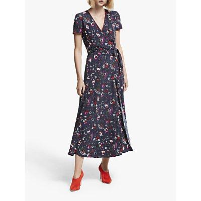 Boden Natasha Wrap Dress, French Navy