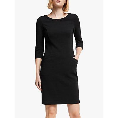 Boden Jasmine Ottoman Dress, Black