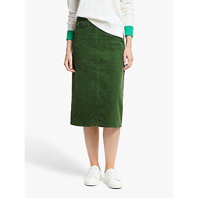 Boden Natalie Cord Midi Skirt, Green Mid