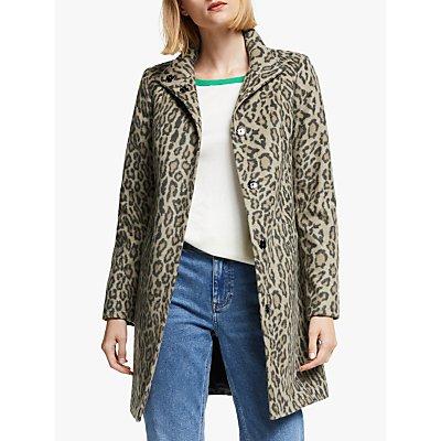 Boden Hengrave Leopard Print Coat, Multi