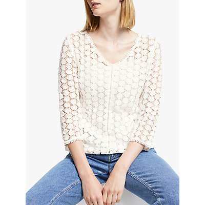Boden Arabella Lace Top, Ivory