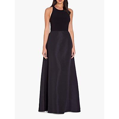 Adrianna Papell Jersey Taffeta Dress, Black, Black