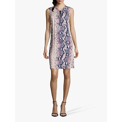 Betty & Co. Python Print Dress, Blue/Beige