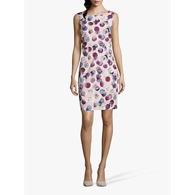 Betty & Co. Globe Print Dress, Rosé/White
