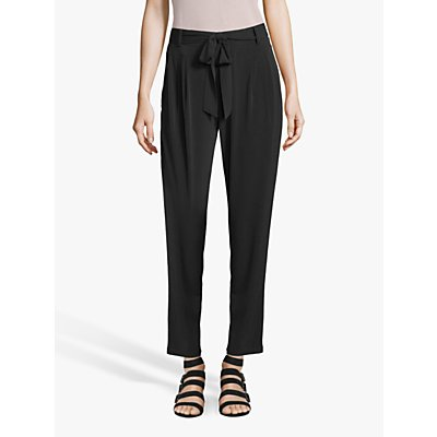 Betty & Co Belted Cropped Trousers, Black