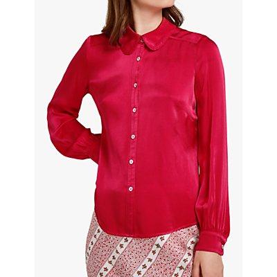 Ghost Daisy Satin Shirt, Coral