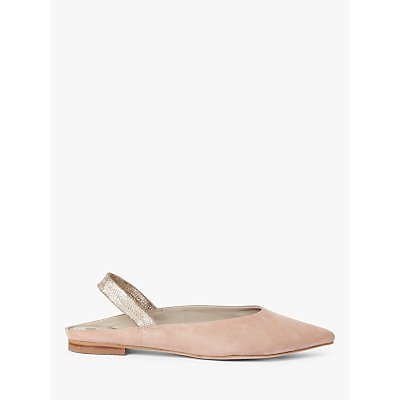 Boden Hannah Suede Slingback Flats, Fawn Rose