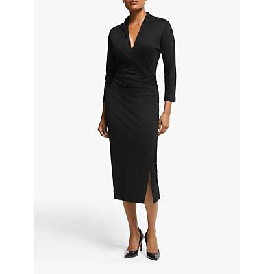 Winser London Wrap Midi Dress, Black