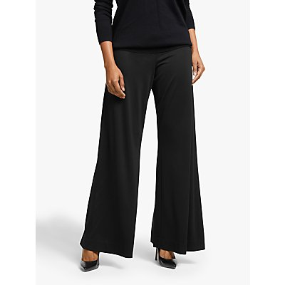 Winser London Palazzo Wide Leg Trousers, Black