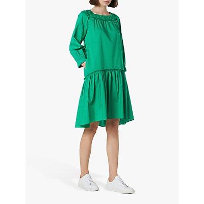 L.K.Bennett Frida Cotton Oversized Dress, Fern Green