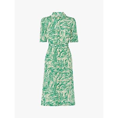 L.K.Bennett Irenie Belted Silk Shirt Dress