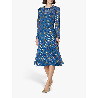 L.K.Bennett Ines Floral Dress, Pri-Ultrablue