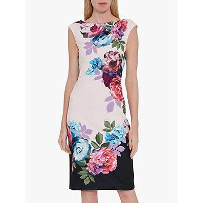 Gina Bacconi Mirna Floral Midi Dress, Blush