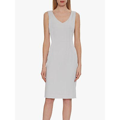 Gina Bacconi Merna Sleeveless Moss Crepe Shift Dress