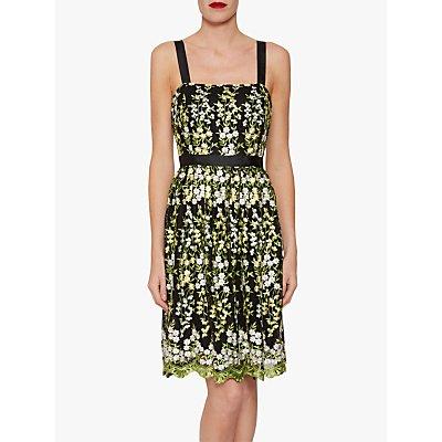 Gina Bacconi Eden Embroidered Floral Dress, Multi