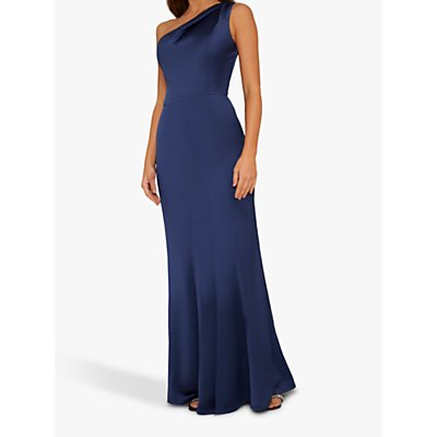 Chi Chi London Aiyanna One Shoulder Dress, Navy