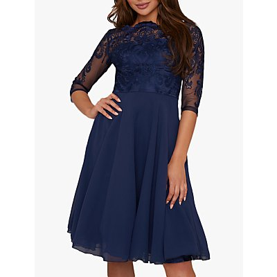Chi Chi London Carmella Lace Dress, Navy