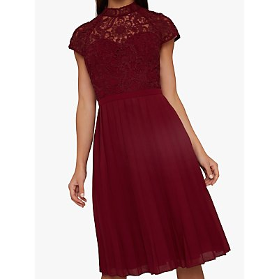 Chi Chi London Kirstin Dress, Burgundy