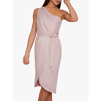 Chi Chi London Laura One Shoulder Dress, Mink