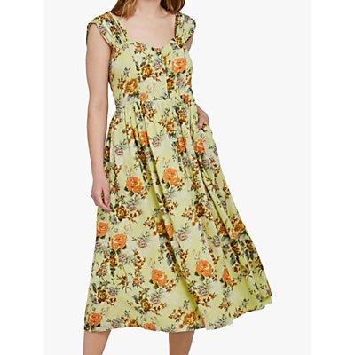 Ghost Lisa Cotton Dress, Yellow/Multi
