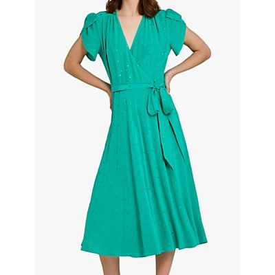 Ghost Nancy Dot Dress, Green